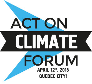 Logo Act on Climate Forum - April 12 2015