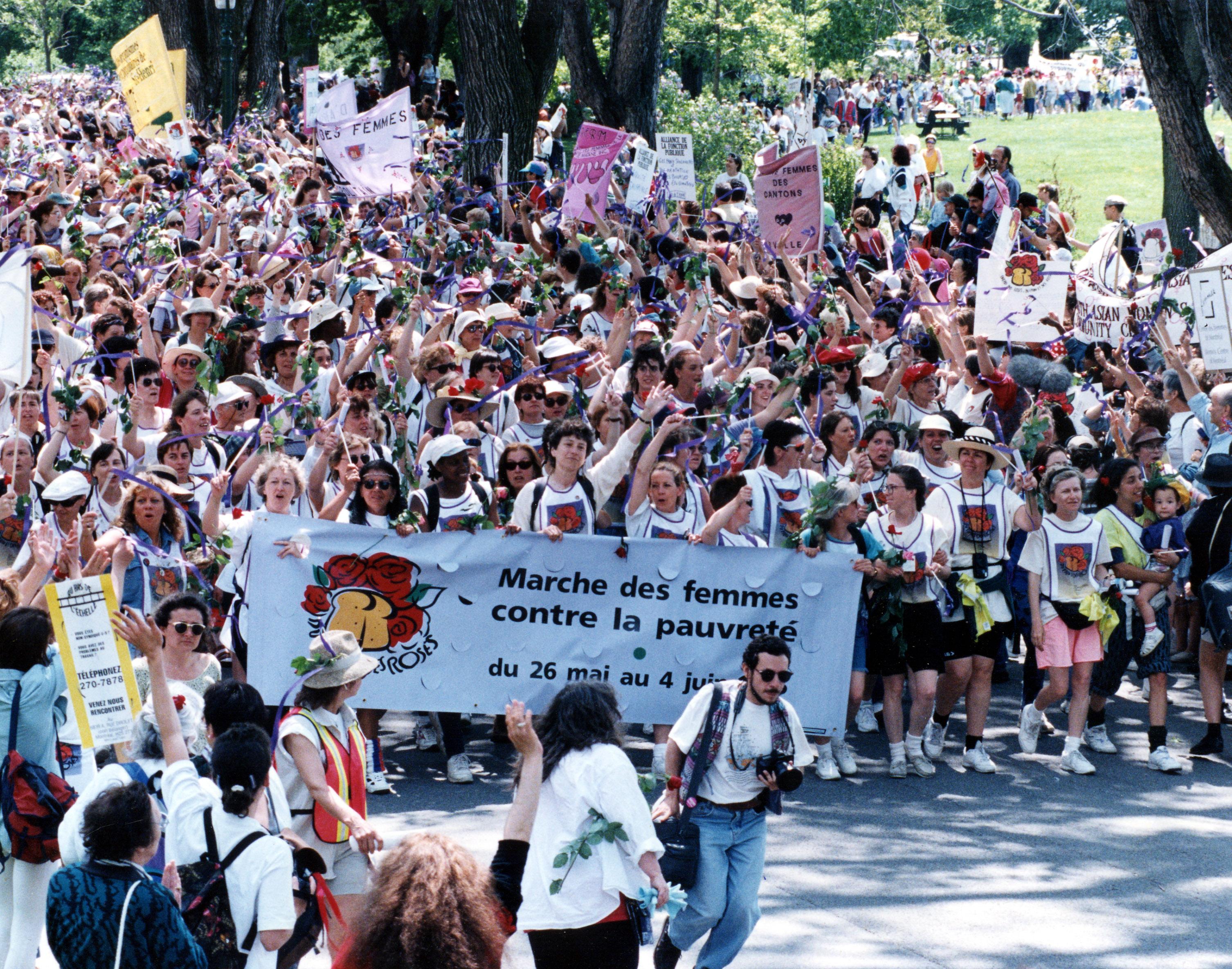 Marche des femmes contre la pauvreté - 1995