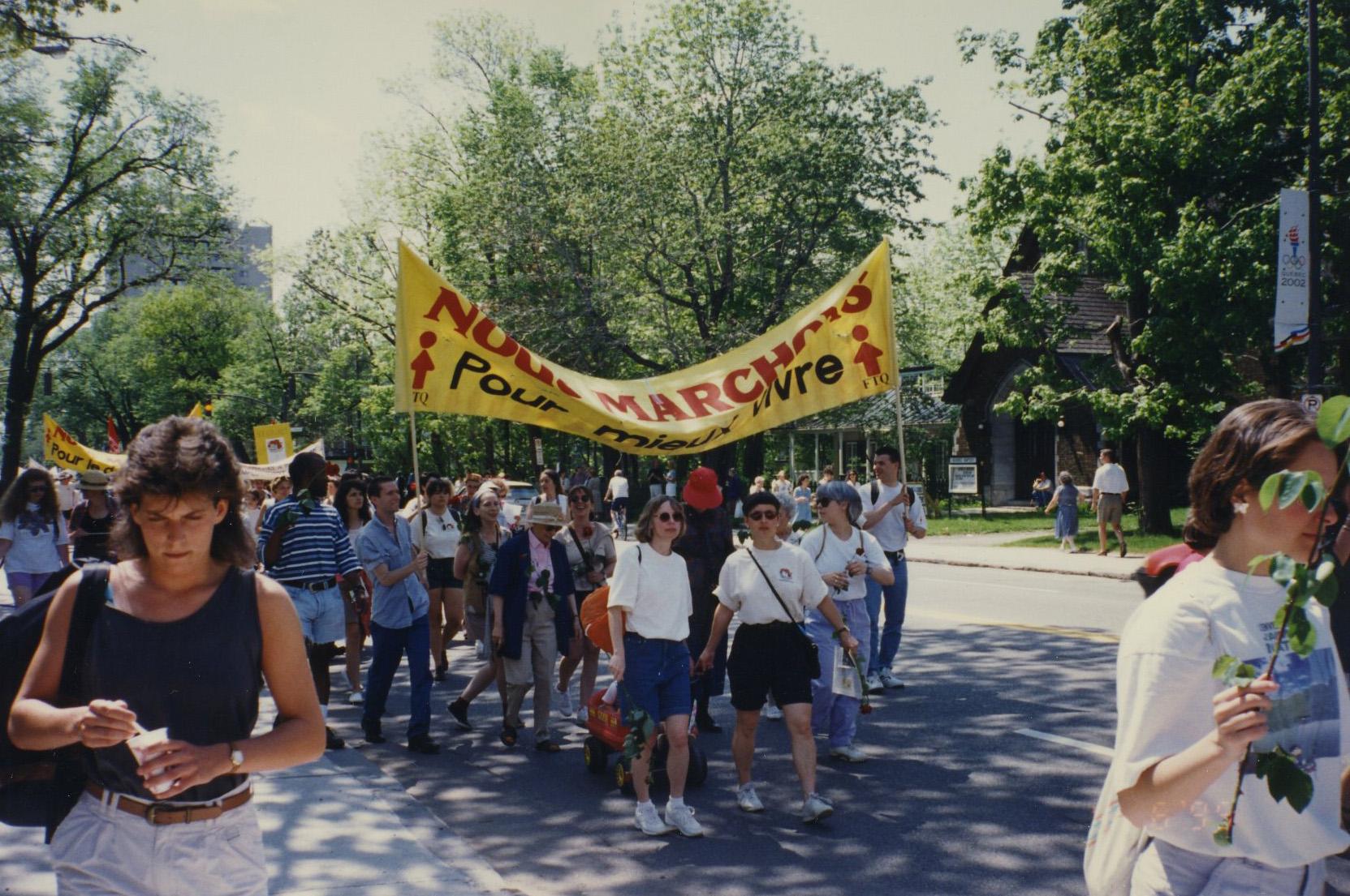 Marche des femmes contre la pauvreté en 1995