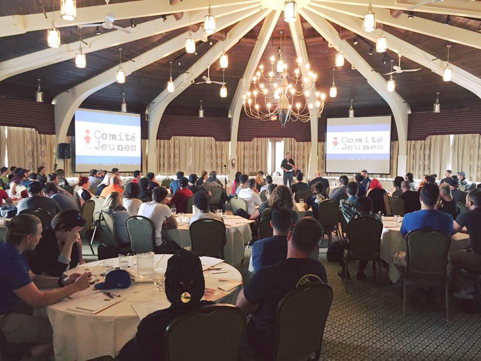 Plus de 140 jeunes ont participé à la 13e édition du Camp des jeunes de la FTQ les 9, 10 et 11 septembre 2015.