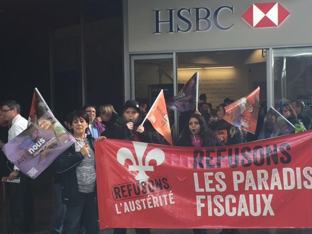 Front commun - Activité de perturbation socio-économique à Montréal - 21 octobre 2015