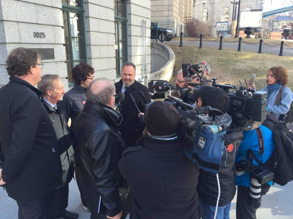 Les centrales syndicales rencontrent le premier ministre Couillard dans le cadre du 1er mai.