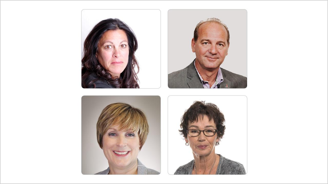 Kateri Lefebvre, Yves Ouellet, Anouk Collet et Louise Chabot
