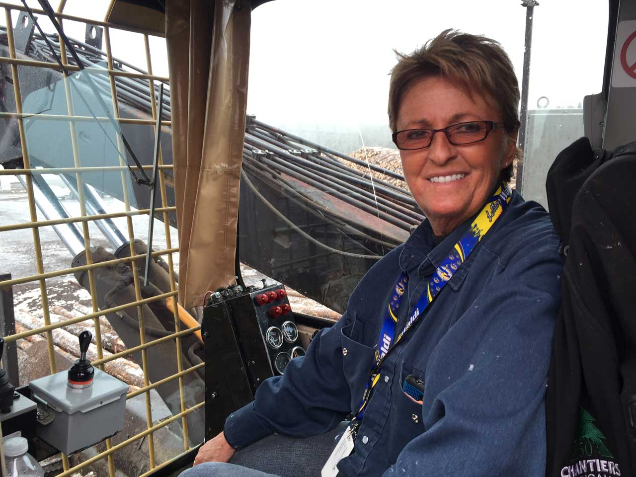 Lily Gallant, opératrice de chargeuse chez Chantiers Chibougamau