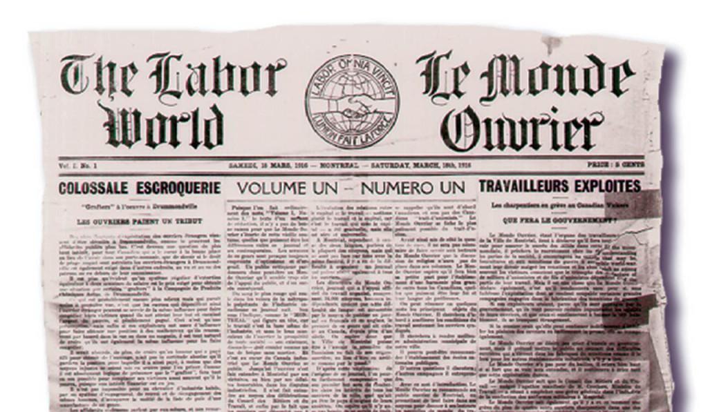 Premier numéro du Monde ouvrier en 1916