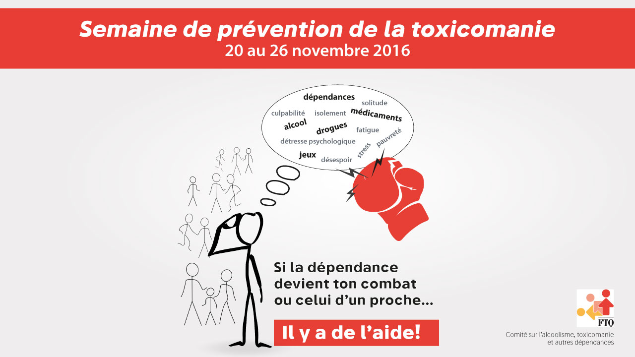 Affiche de la Semaine de prévention de la toxicomanie 2016