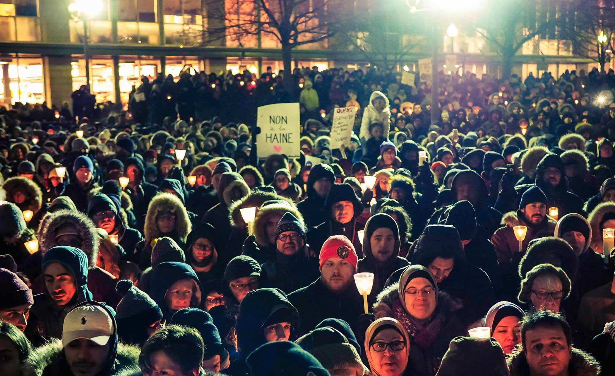 Vigile de solidarité à la suite de l'attentat de Québec