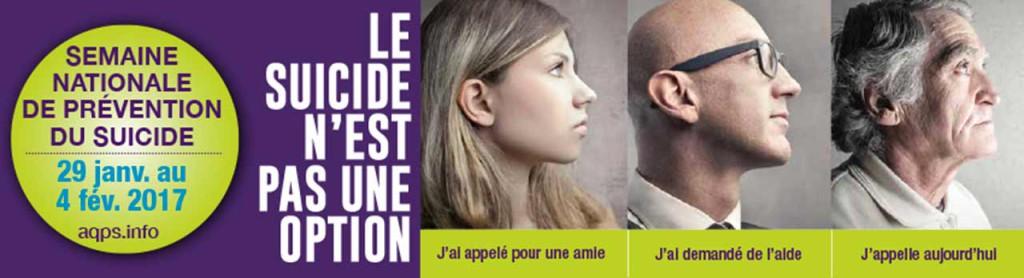 Visuel de la 27e Semaine nationale de prévention du suicide