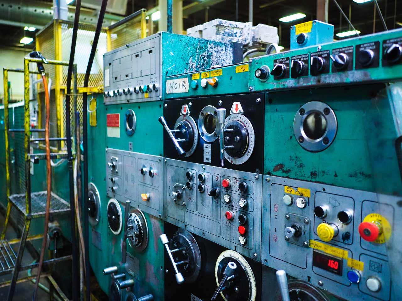 Métier: opérateur de machine flexo Martin 618