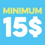 Minimum 15$