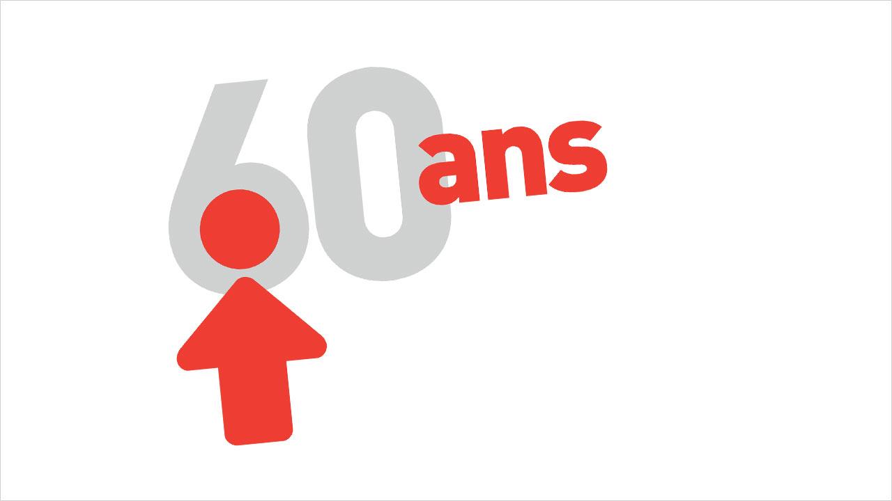 Logo - 60 ans de la FTQ