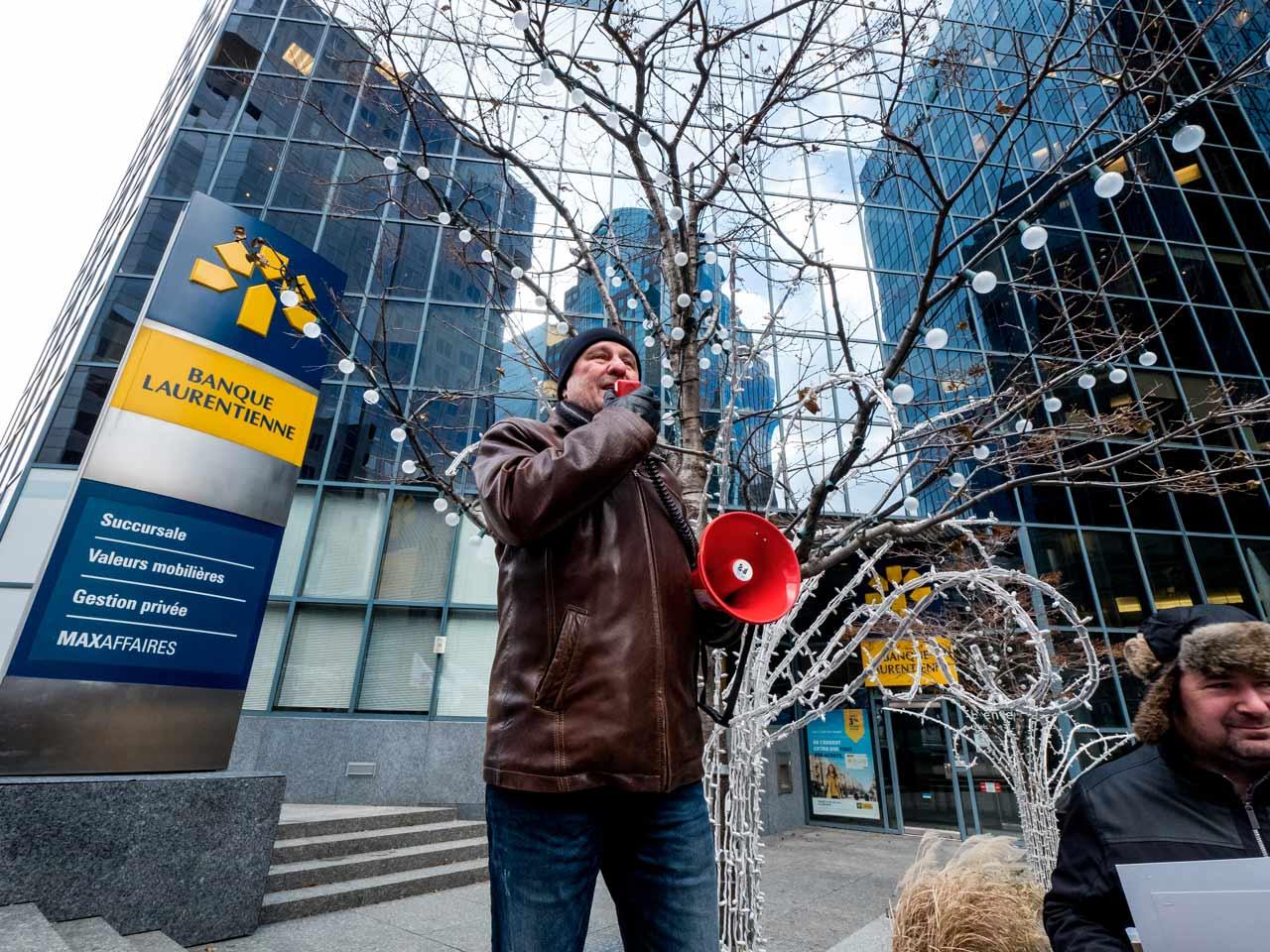 Manifestation des employés de la Banque Laurentienne