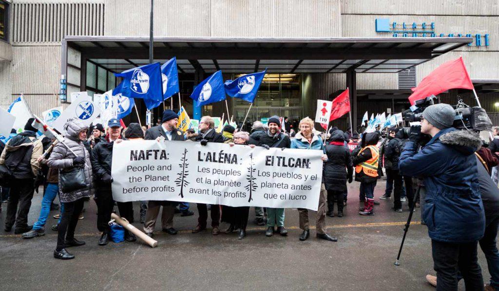 Renégociations de l'ALENA – Grand rassemblement citoyen à Montréal le 27 janvier 2018