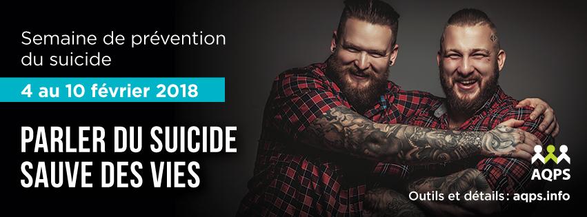 Semaine de prévention du suicide 2018