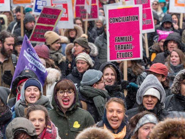 8 mars 2018 - Action éclair du Collectif 8 mars