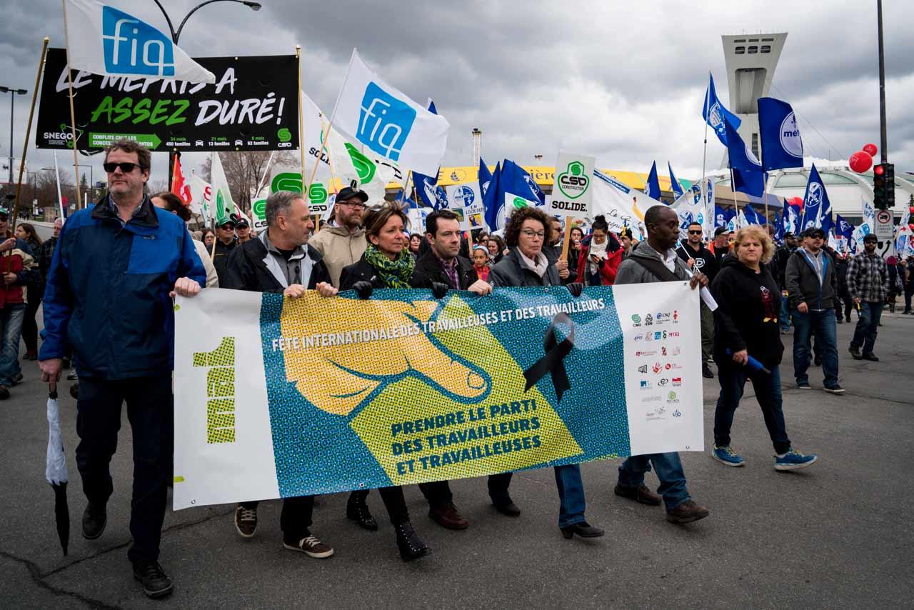 Fête internationale des travailleuses et des travailleurs 2018