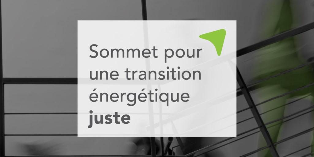 Sommet pour une transition énergétique juste