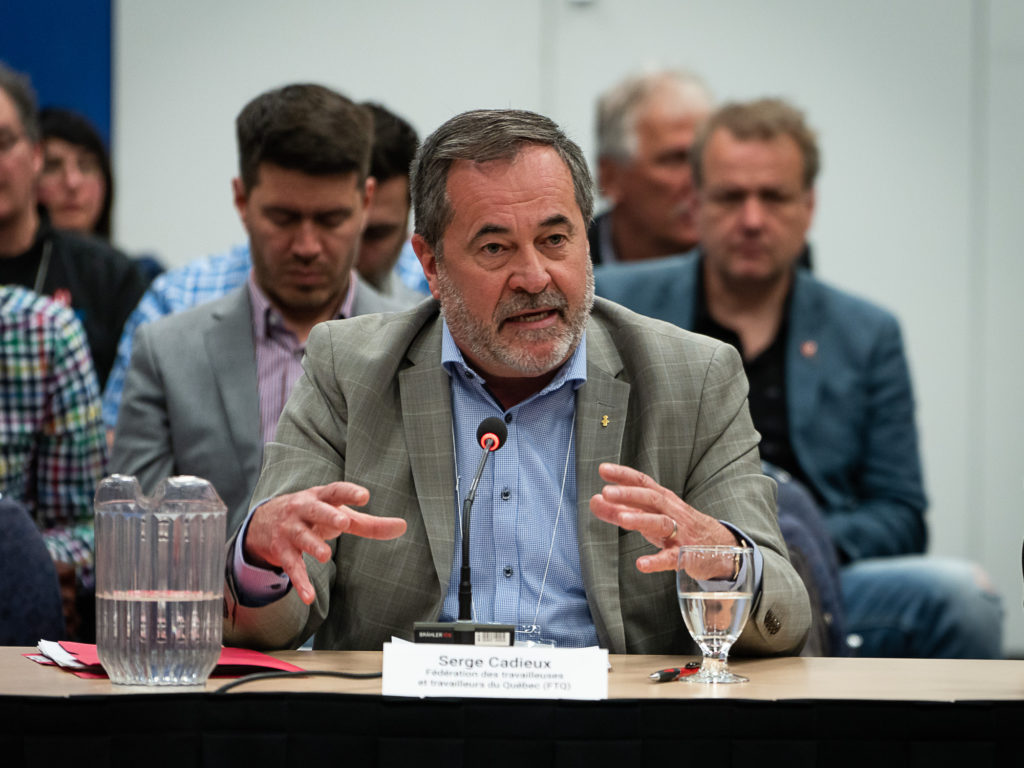 Serge Cadieux, secrétaire général de la FTQ