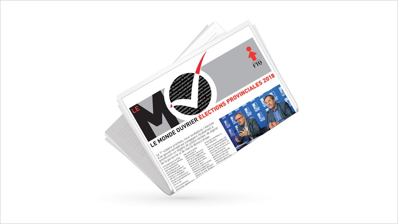 Encart spécial du Monde ouvrier sur les élections provinciales 2018