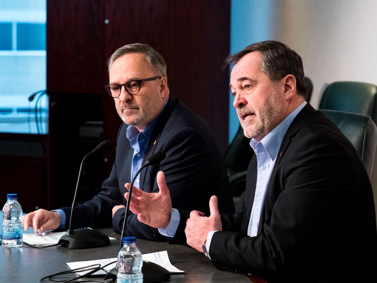 Daniel Boyer et Serge Cadieux