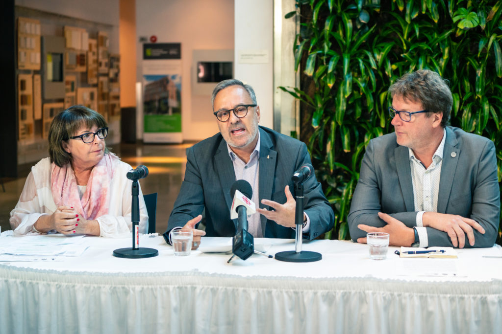 Conférence de la FTQ, de la CSN et de la CSQ sur les élections provinciales 2018
