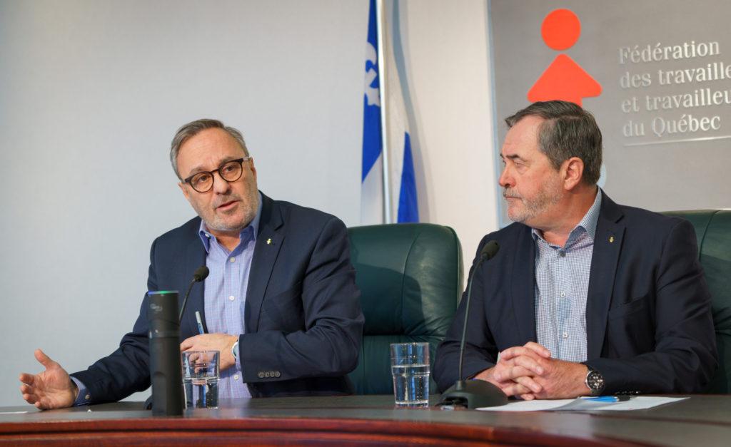 Conférence de presse de début d'année de la FTQ