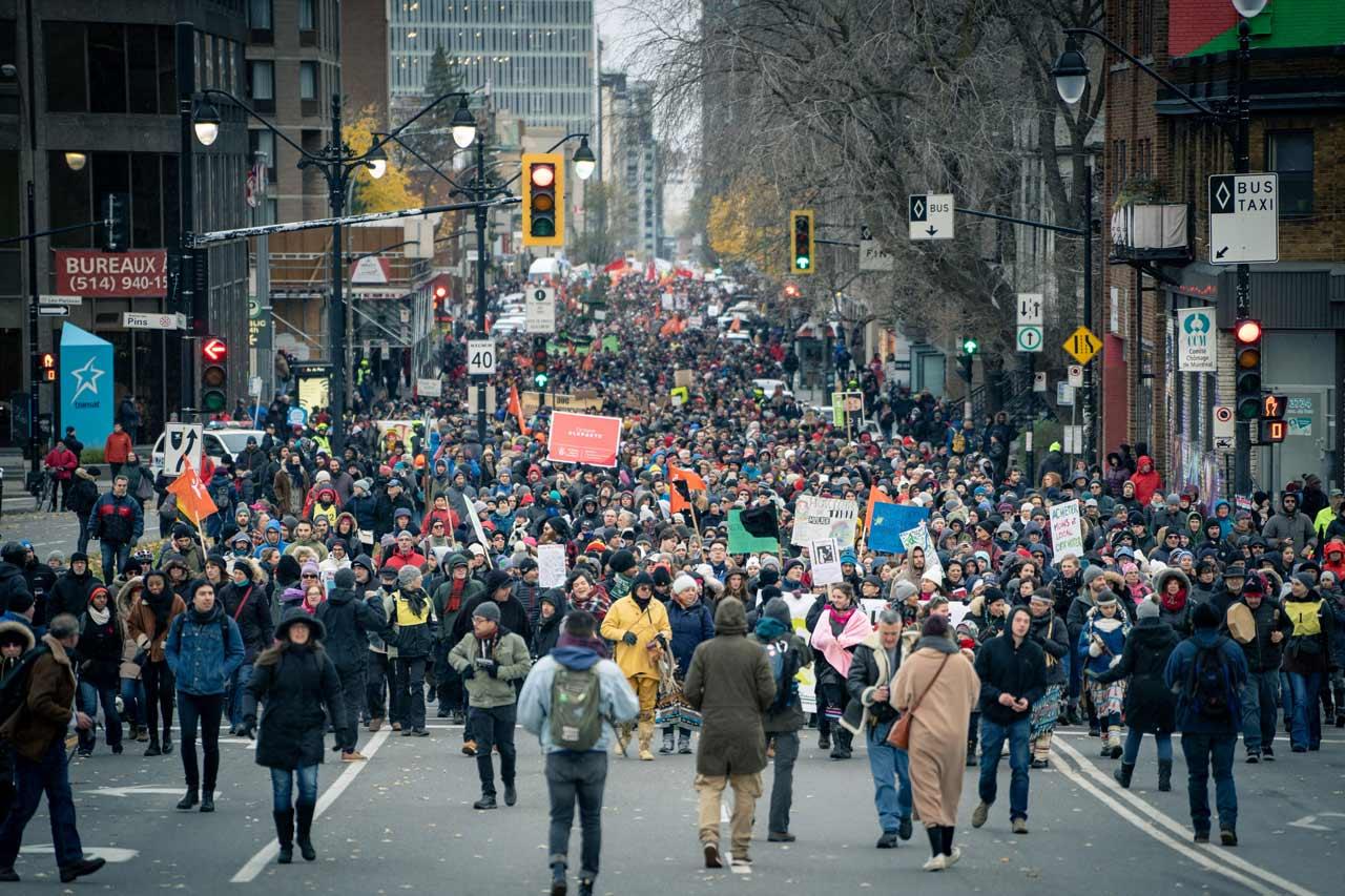 Marche pour le climat en novembre 2018