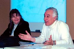 Denise Gagnon, conseillère au Service de l'éducation de la FTQ, avec Mohand Tessa