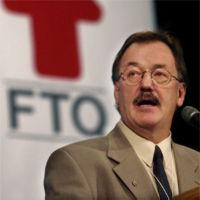 Henri Massé, président de la Fédération des travailleurs et travailleuses du Québec et président du conseil d'administration du Fonds de solidarité FTQ