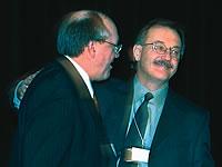 René Roy, secrétaire général et Henri Massé, président de la FTQ, réélus.