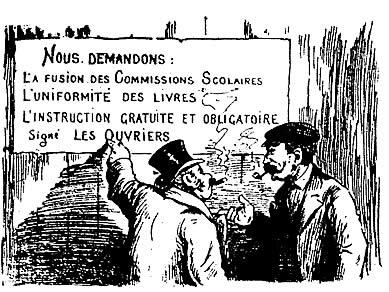 - Ces réformes ne nous paraissent pas désirables à nous de la classe bourgeoise, de la classe aisée… <br>- Soit, mais elles nous semblent urgentes à nous de la classe ouvrière, de la classe lésée… <br>Journal Le Pays, 4 mars 1911