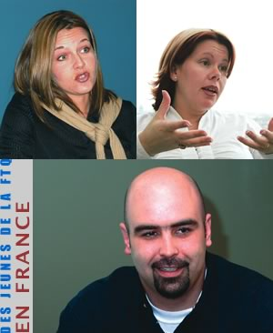 Annabelle Chouinard, Julie Ferland et Éric Rancourt <br> <br><i>Photos Serge Jongué