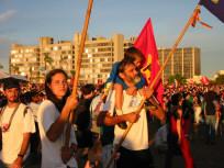 Plus de 50 000 personnes ont marché dans les rues de Porto Alegre et assisté aux discours d'ouverture.