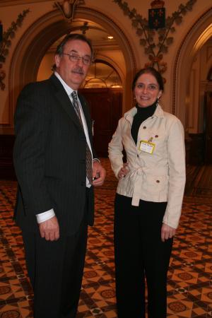 Henri Massé président de la FTQ et Lise Coté du service de recherche de la FTQ à la commission parlementaire spéciale sur la Loi électorale
