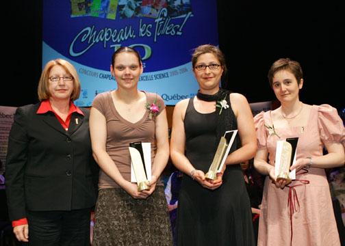 Photo de la remise de prix Chapeau les filles!