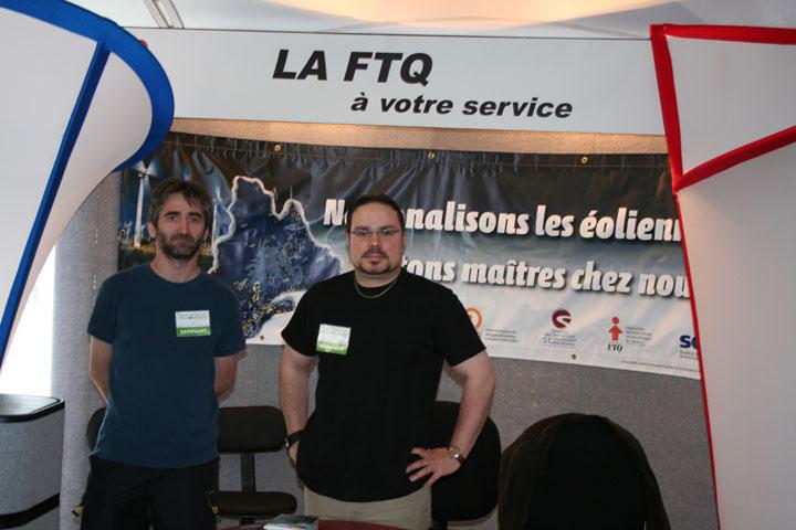 Les syndicats SCFP d'Hydro-Québec (FTQ) au Salon national de l'environnement