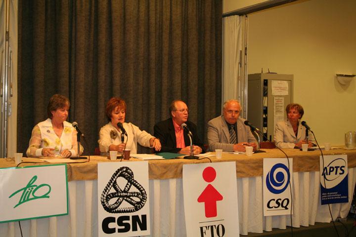 Conférence de presse des représentants syndicaux dans le dossier de l'équité salariale