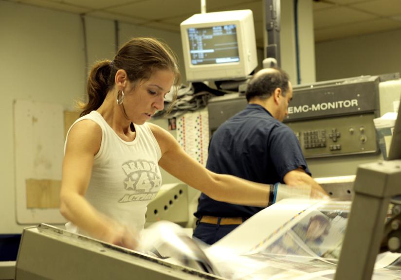 Photos de travailleuses et de travailleurs syndiqués.