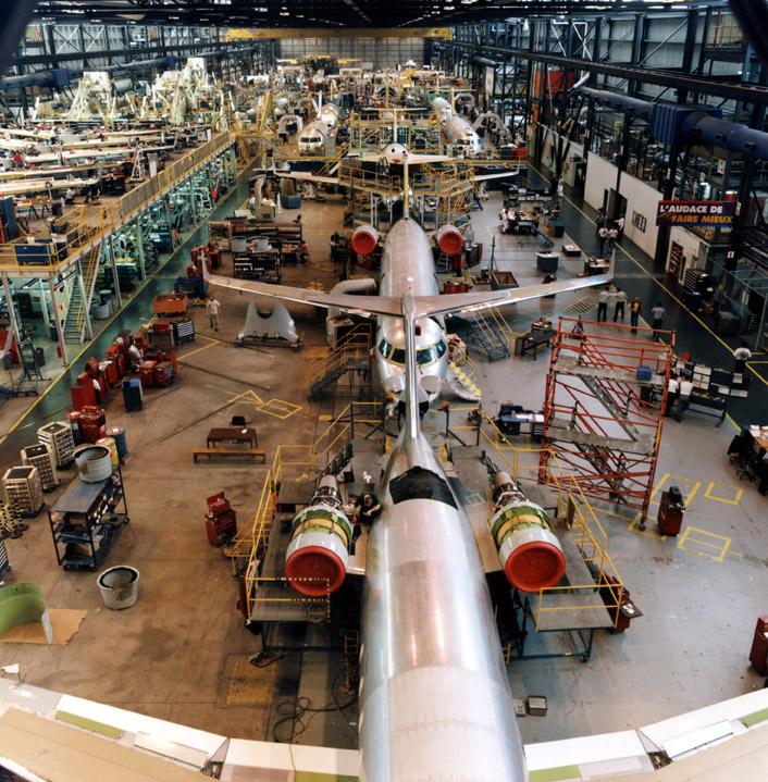 Photo d'une usine Bombardier