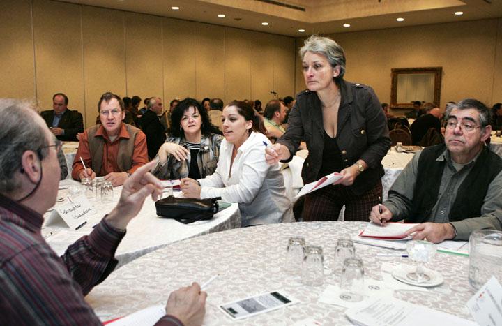 Photo d'une rencontre syndicale