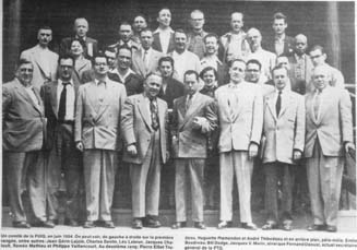 délégués et déléguées au 4ieme congrès de la FPTQ à St-Jean en 1941