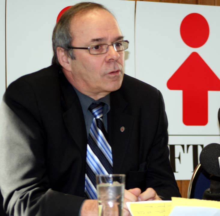 Photo du président de la FTQ, Michel Arsenault.