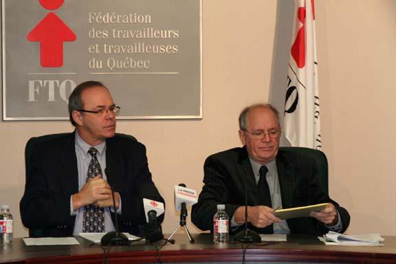 Michel Arsenault et René Roy.
