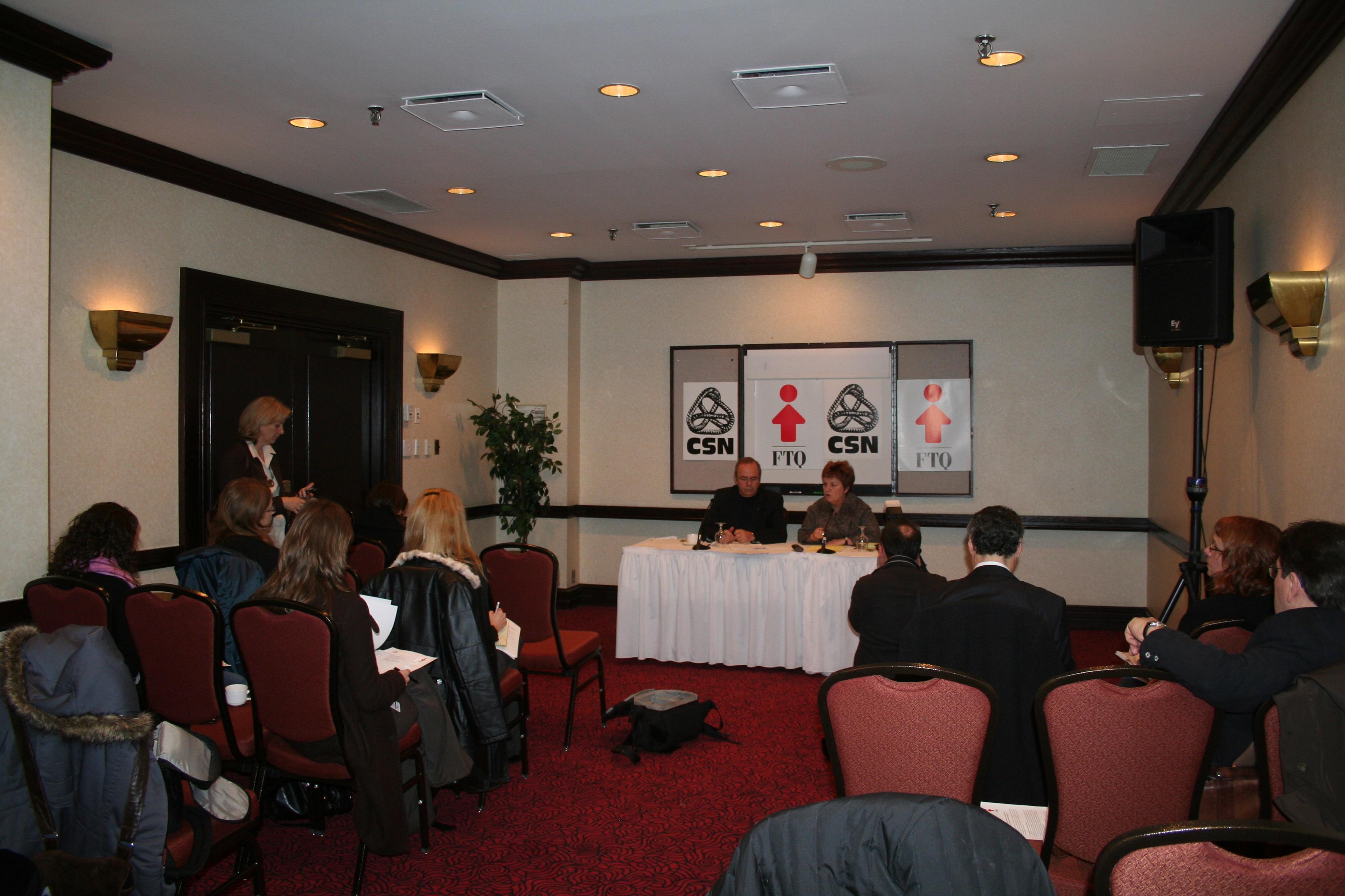 Photos de la conférence de presse