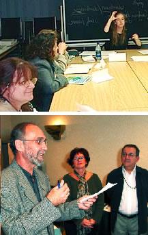 <b>Sur la photo du haut : Les classes de l&#39;UES-800. Sur la photo du bas : Luc Desnoyers, directeur québécois des TCA, au Delta Montréal. <br><br></b><i> Photos Serge Jongué