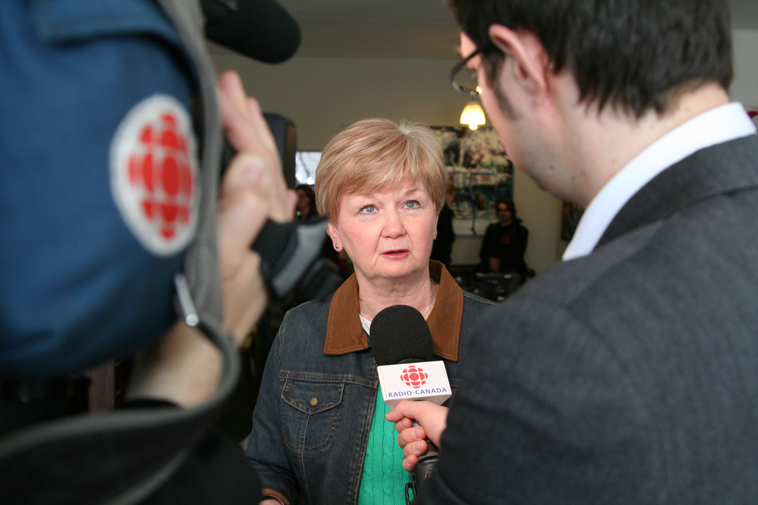 La vice-présidente de la FTQ, Louise Mercier