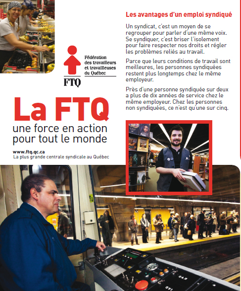 Dépliant de la FTQ