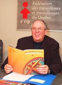 Le secrétaire général de la FTQ, René Roy, à l'occasion du lancement du Guide Action Emploi. (Photo : Serge Jongué)